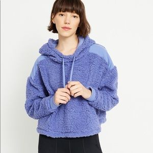 NWT Z by Zella Blue Sherpa Pullover Active Hoodie
